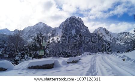 Winter at Aiguestortes National Park, Catalonia, Spain   #1007126311