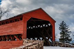 Winter at Sachs Covered Bridge, Adams County, Pennsylvania, USA