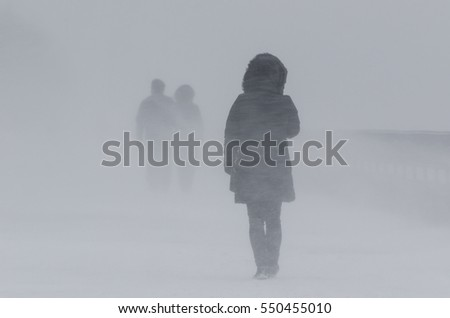 WINTER ATTACK - PEOPLE IN BLIZZARD