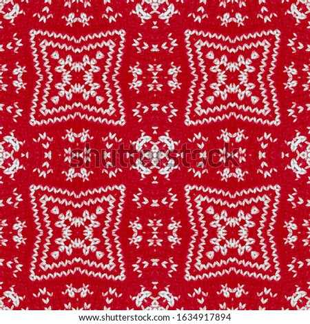 Winter backdrop. Knitting patterns. Handmade Knitting. Woolen Dress. Ornate backdrop. Red, Blue, Black Natural Sweater. Norwegian Pattern. Repeat ornament. Repeat ornament.