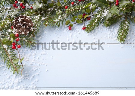 winter background - blue woodboard  #161445689