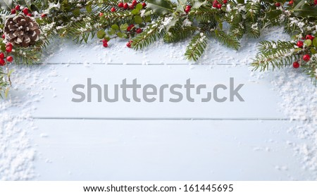 winter background - blue woodboard  #161445695