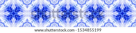 Winter Background. Seamless Blue Mexican Artisan Design. Ogee Delicate Print. Mexican Artisan Design. Ethnic Textile Motifs. Ethnic Geo Pattern. Dyed Batik Style.