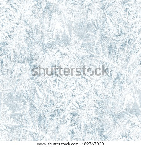 winter background with frost pattern - seamless silver texture