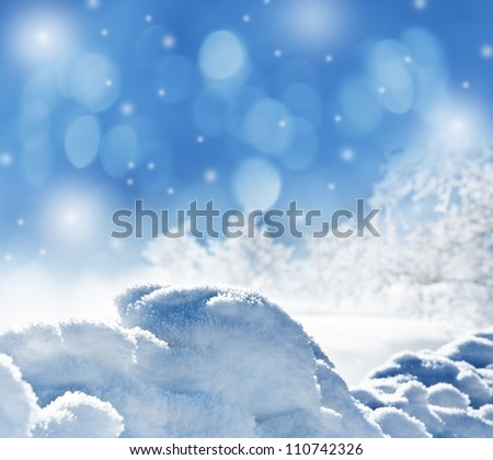 winter background with snow texture close up