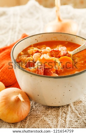 winter bean soup