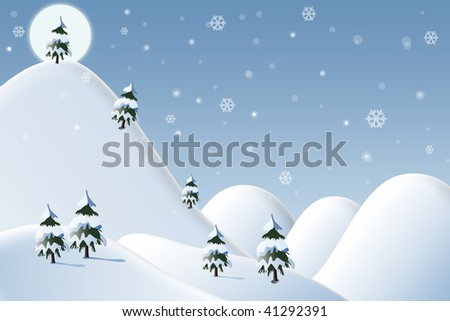 winter beautiful scene