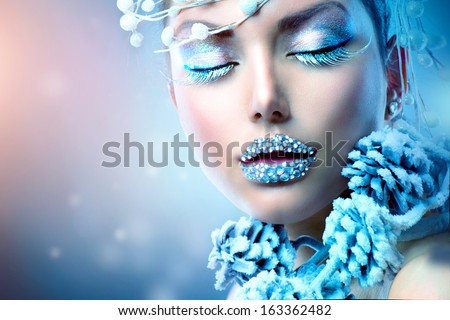 Holiday Make-up Snow Queen