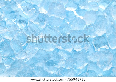 winter blue ice cube texture background #755948935