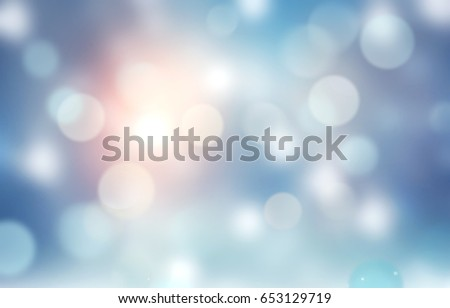 Winter blue snowy background.Christmas new year holiday illustration.Snowflakes abstract defocused banner.
