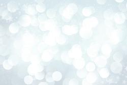 Winter blurred bokeh background