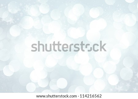 Winter blurred bokeh background