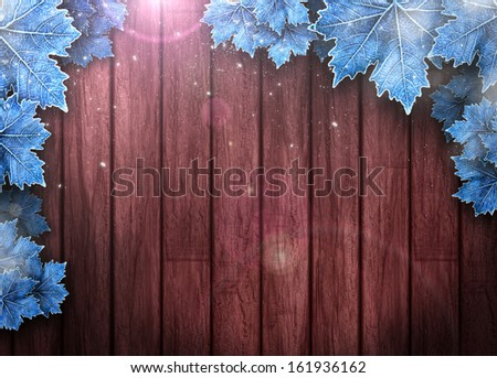 Winter business or invitation poster or flyer background with space