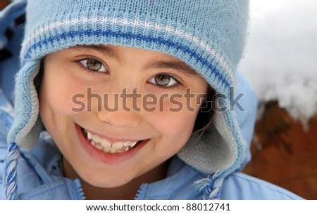 Winter child portrait