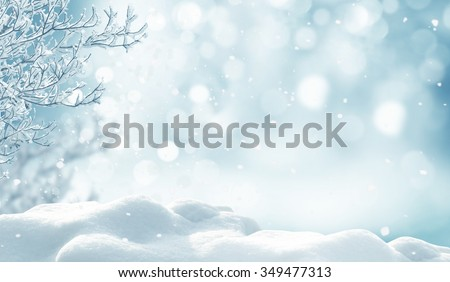 Stock Photo winter christmas background