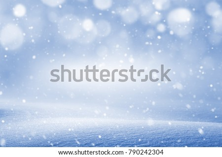 Winter christmas background with snowdrift and blizzard #790242304