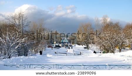 Winter city. The Sakhalin,Kholmsk.