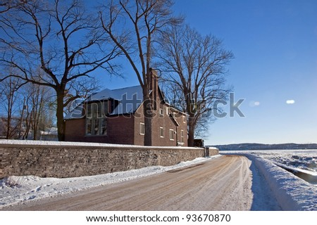 Winter day on Island d'Orleans. Quebec
