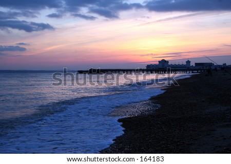 Winter der Sonnenuntergang - stock photo