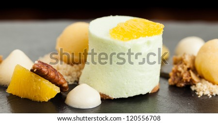 Winter Desert with Apple Mousse and Orange Sorbet