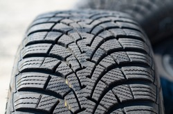 Winter, directional tire tread in very good condition.