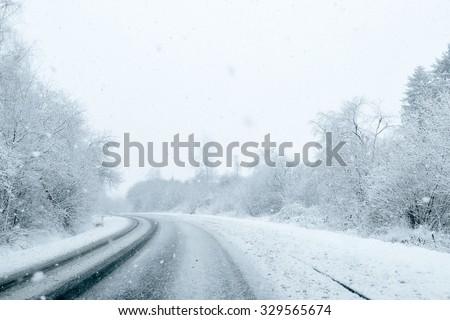 Winter Driving - Winter Road #329565674