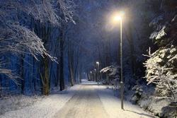Winter evening in Stockholm Sweden