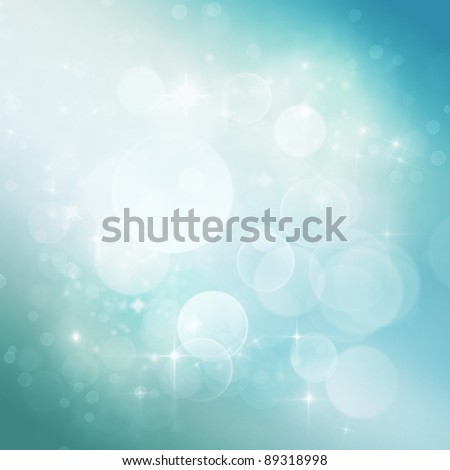 Winter Festive Christmas  winter  abstract background with  bokeh lights and stars