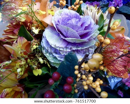 Winter floral bouquet #761517700