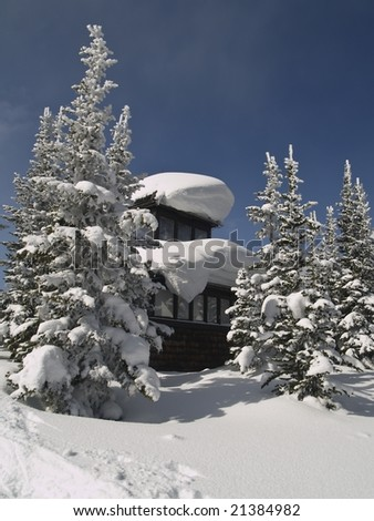winter forest fire lookout