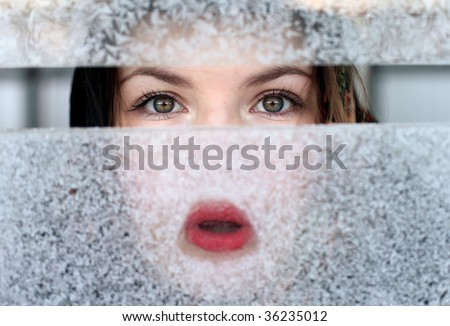 Winter fun. - stock photo