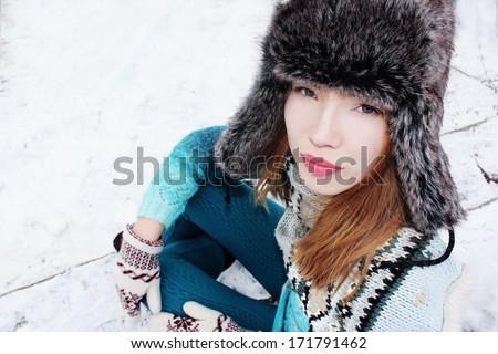 Winter girl or Winter sport