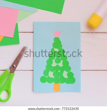 Free photos Happy kids making christmas decorations and postcards ...