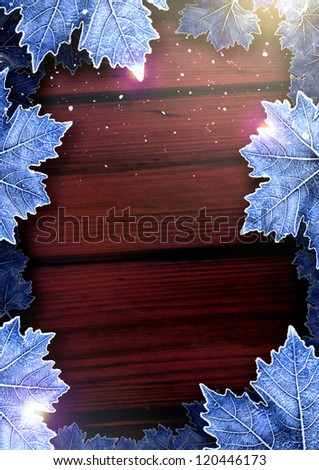 Winter Happy Christmas party poster background with space