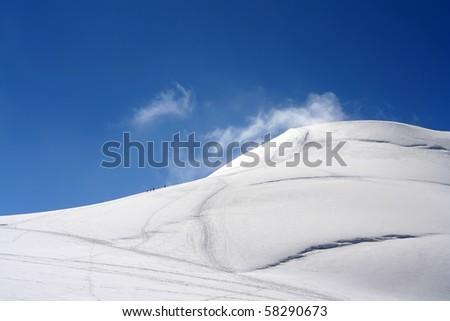 Winter High Mountains Landscape