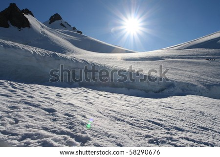 Winter High Mountains Landscape