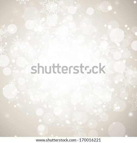 Winter holiday abstract background with snowflakes and copy-space