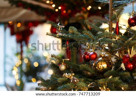 Winter holiday background - Shutterstock ID 747713209