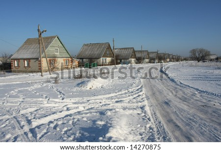 winter house snow road residential structure cold