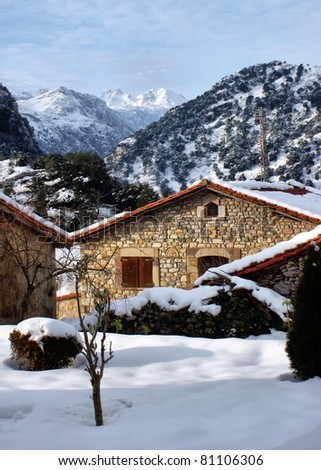 Winter in Alles, Penamellera Alta, Spain