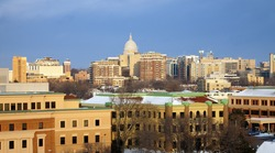 Winter in downtown Madison - seen from the University area.