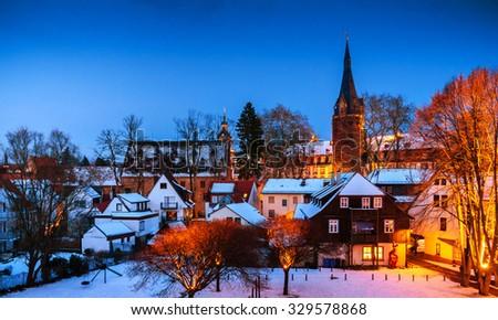 Royaltyfree Winter In Erbach In Odenwald Hessen - Hessen germany
