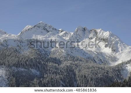 Winter in Hochkrimml, Austria #485861836