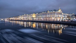 Winter in Saint-Petersburg, Neva river