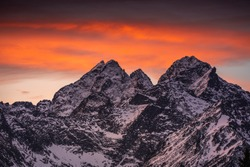 Winter in Tatra Moutains in Poland. High Tatras landscape photos.
