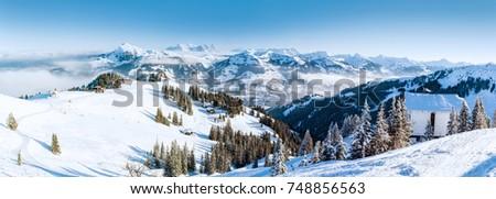 Winter in the austrian alps #748856563