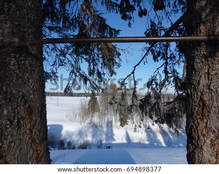 Winter in the countryside - Shutterstock ID 694898377