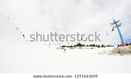 Winter in the mountains. Snowy slopes. Ski slopes Svidovets spine. Dragobrat Ukraine #1291663609