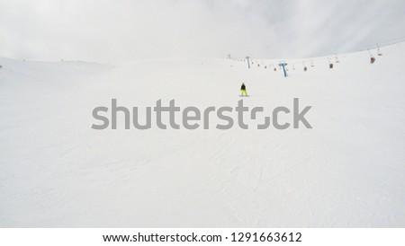 Winter in the mountains. Snowy slopes. Ski slopes Svidovets spine. Dragobrat Ukraine #1291663612