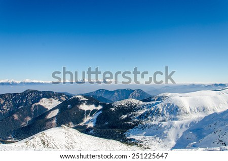 Winter in the snowy mountains #251225647